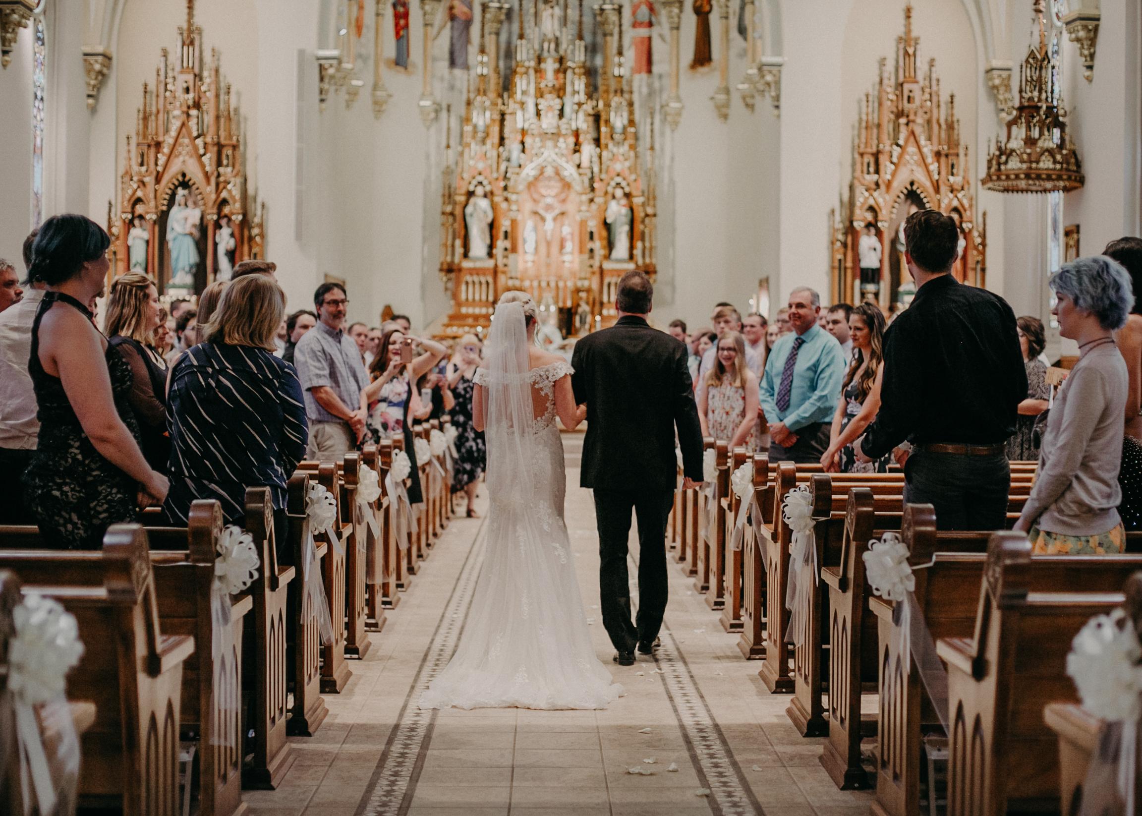 St Johns Catholic Church in Marshfield WI wedding photographer Andrea Wagner