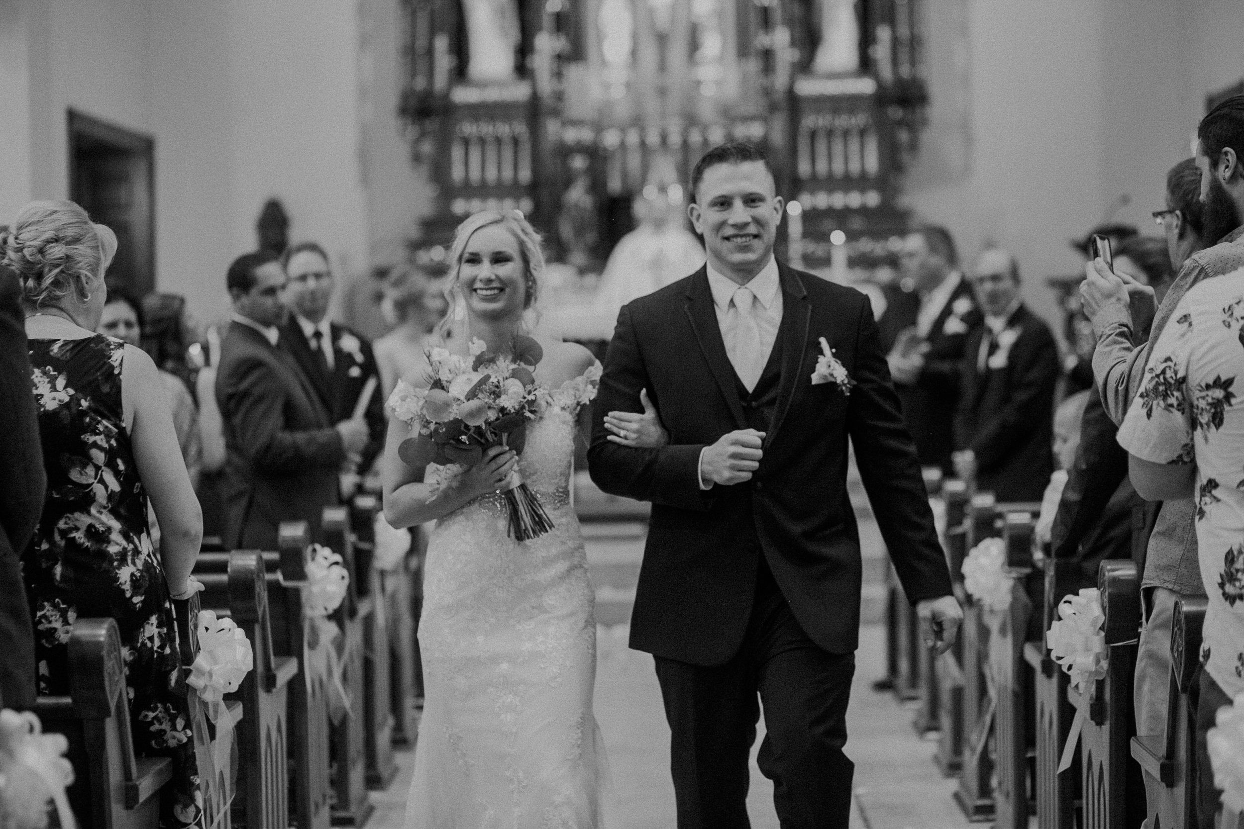 happy wedding day to Marshfield WI bride and groom photographed by Andrea Wagner in real and authentic moments