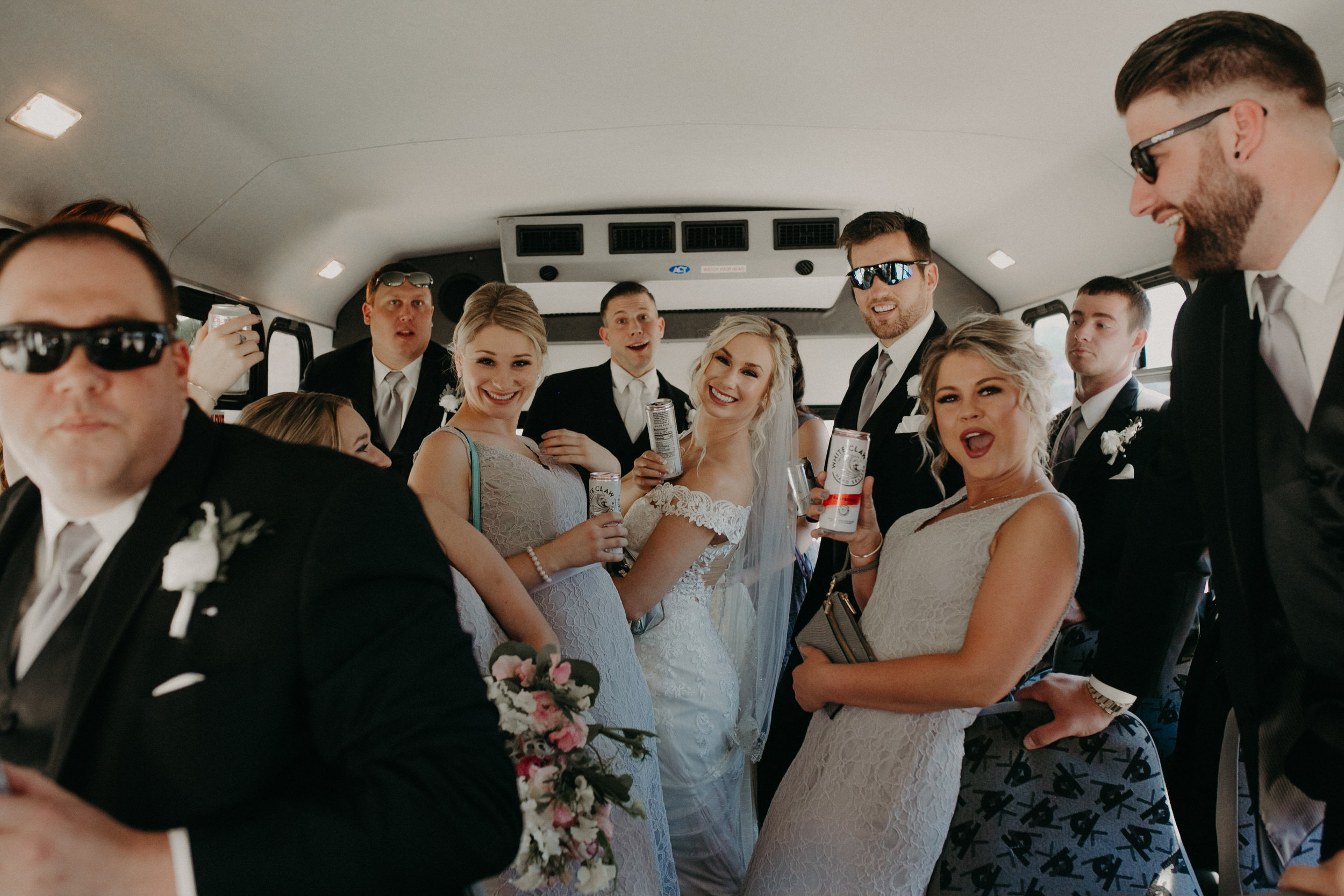 Marshfield Bus Service during a wedding to bars photographed by Andrea Wagner