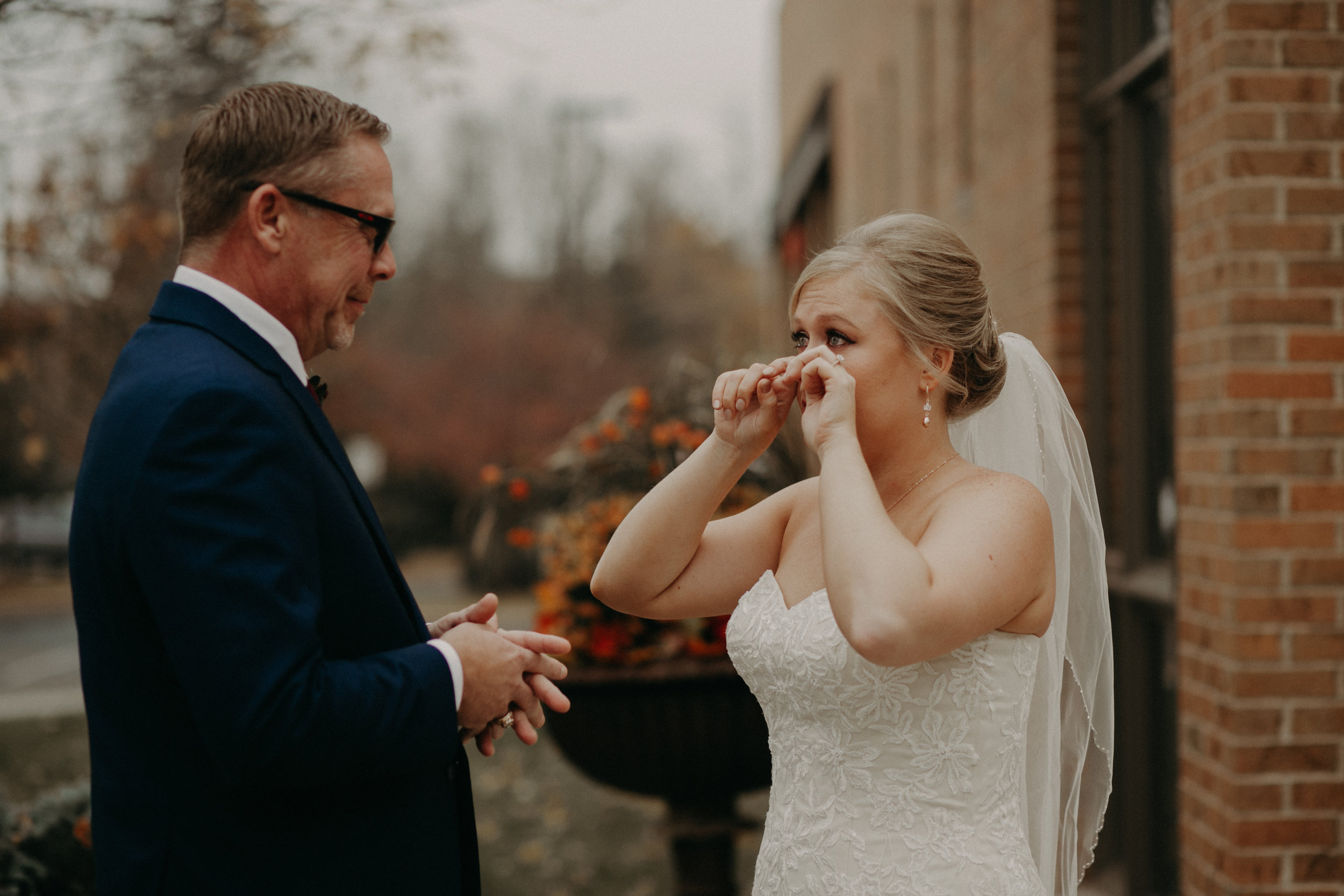 real authentic moments during wedding with Andrea Wagner Photography in River Falls WI