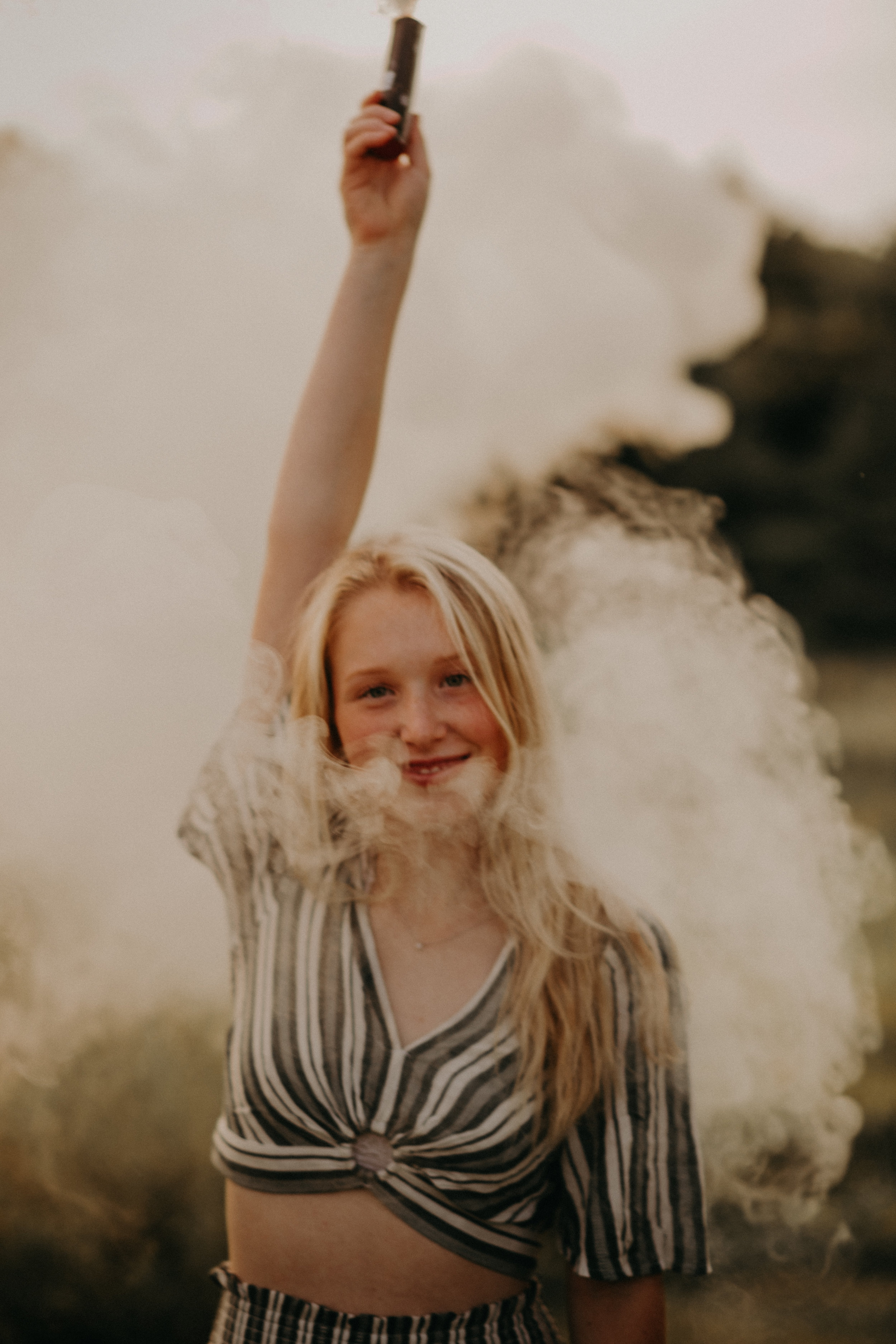incredible smoke bomb senior photography in Hudson WI