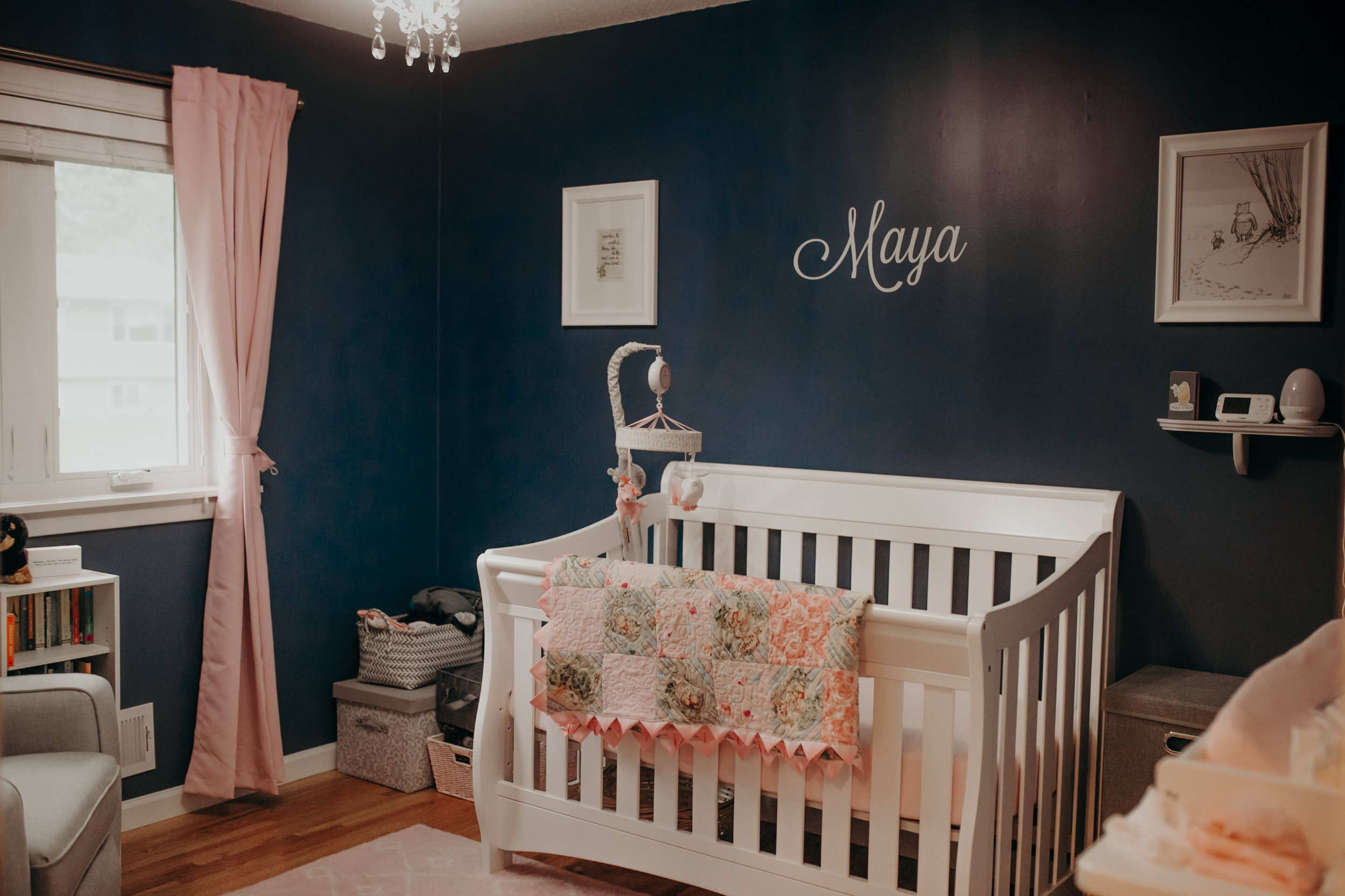 newborn baby girl nursery in Eagan MN during photo shoot with Andrea Wagner Photography