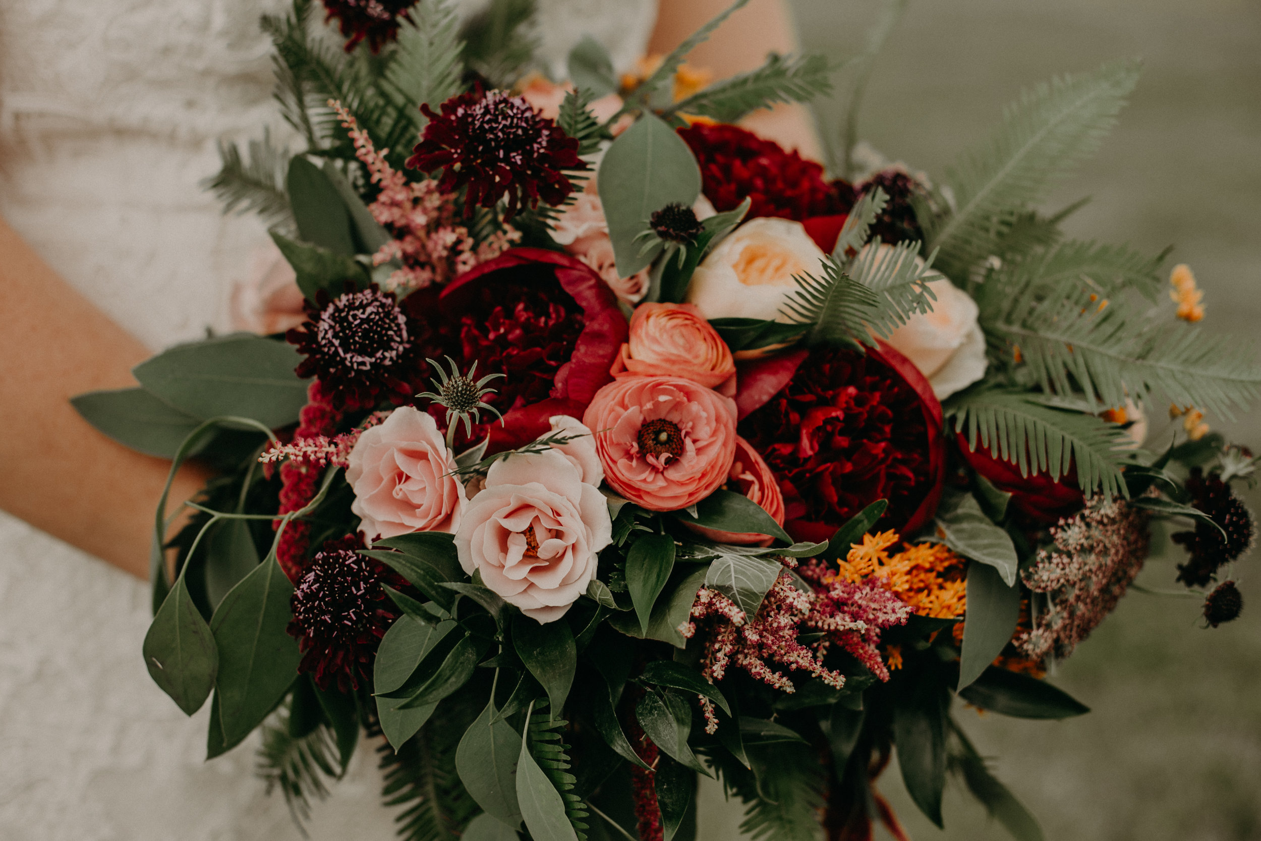 MoodyHues Floral wedding bouquet photographed by Andrea Wagner Photography