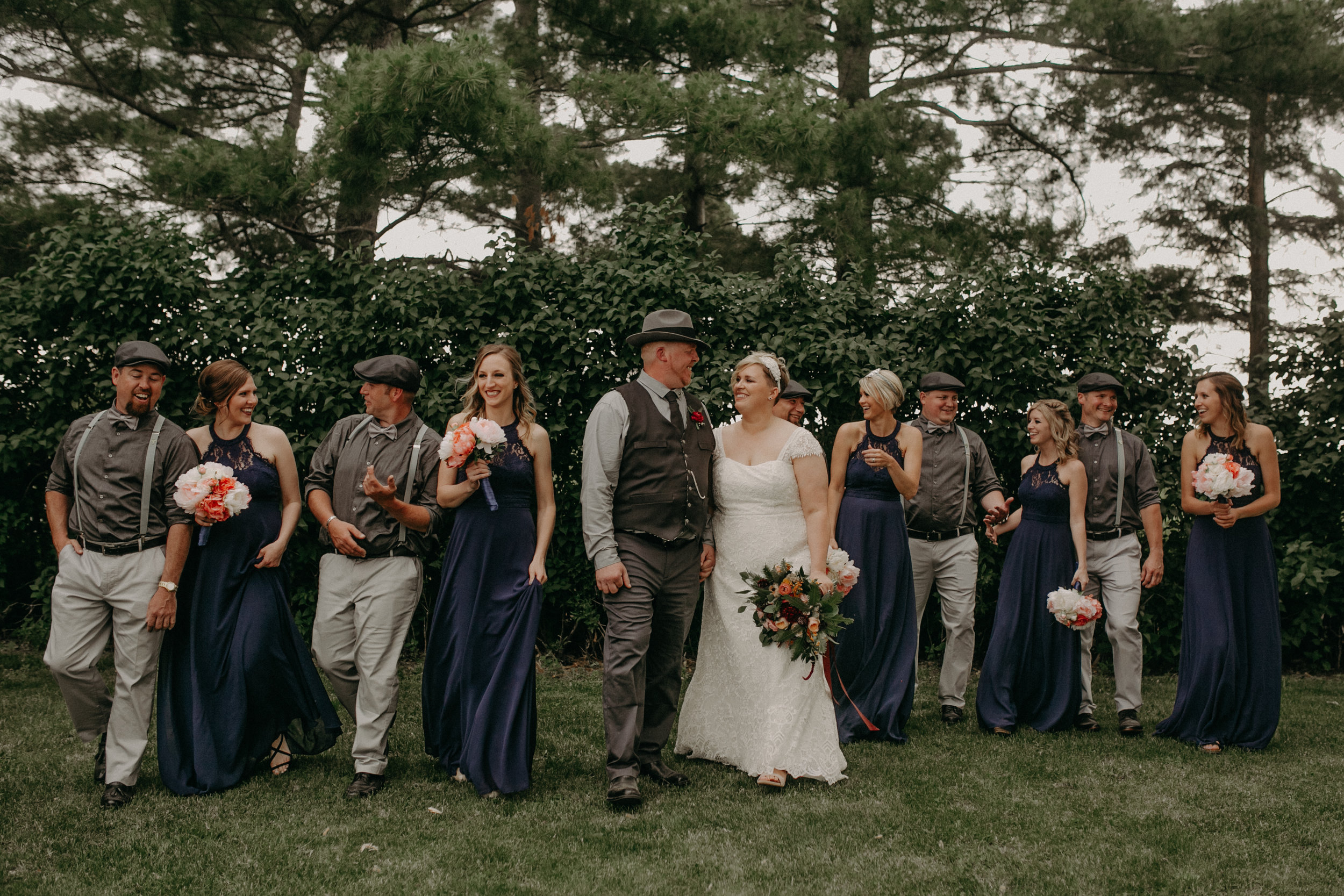 wedding party photos captured by Andrea Wagner Photography in Ellsworth WI