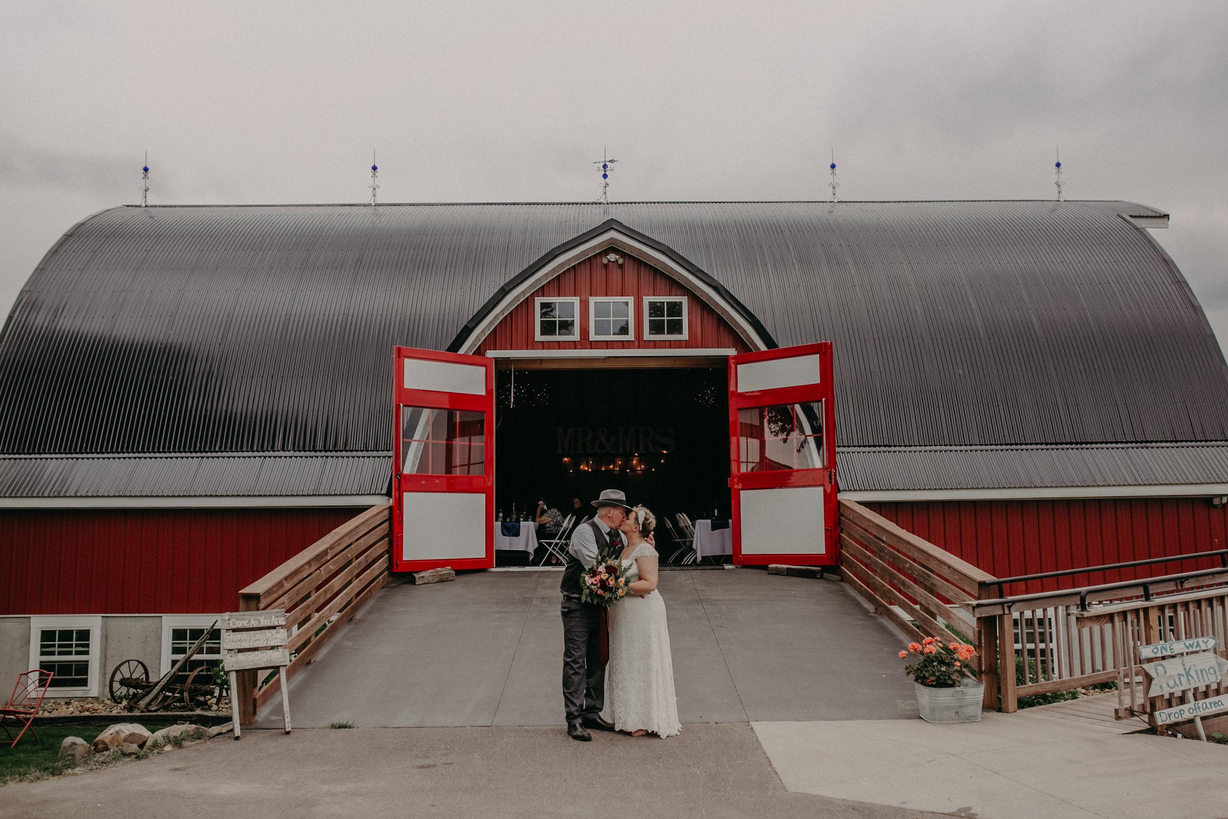 popular wedding venue in Ellsworth WI is Jean Acres Barn