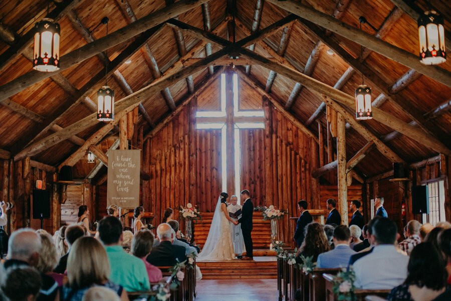 Andrea Wagner Photography captures gorgeous and intimate wedding ceremony at Pine Lake Resort