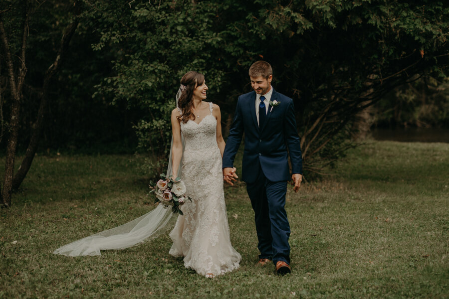 The Mill in Waupaca WI provides beautiful grounds and perfect backdrop for wedding photos
