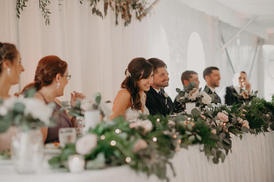 Par 4 Resort tent wedding reception in Waupaca WI