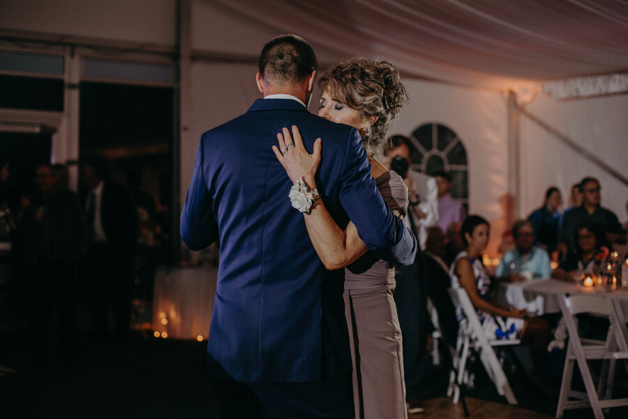 Andrea Wagner Photography captures mother/son dance at Par 4 Resort in Waupaca WI