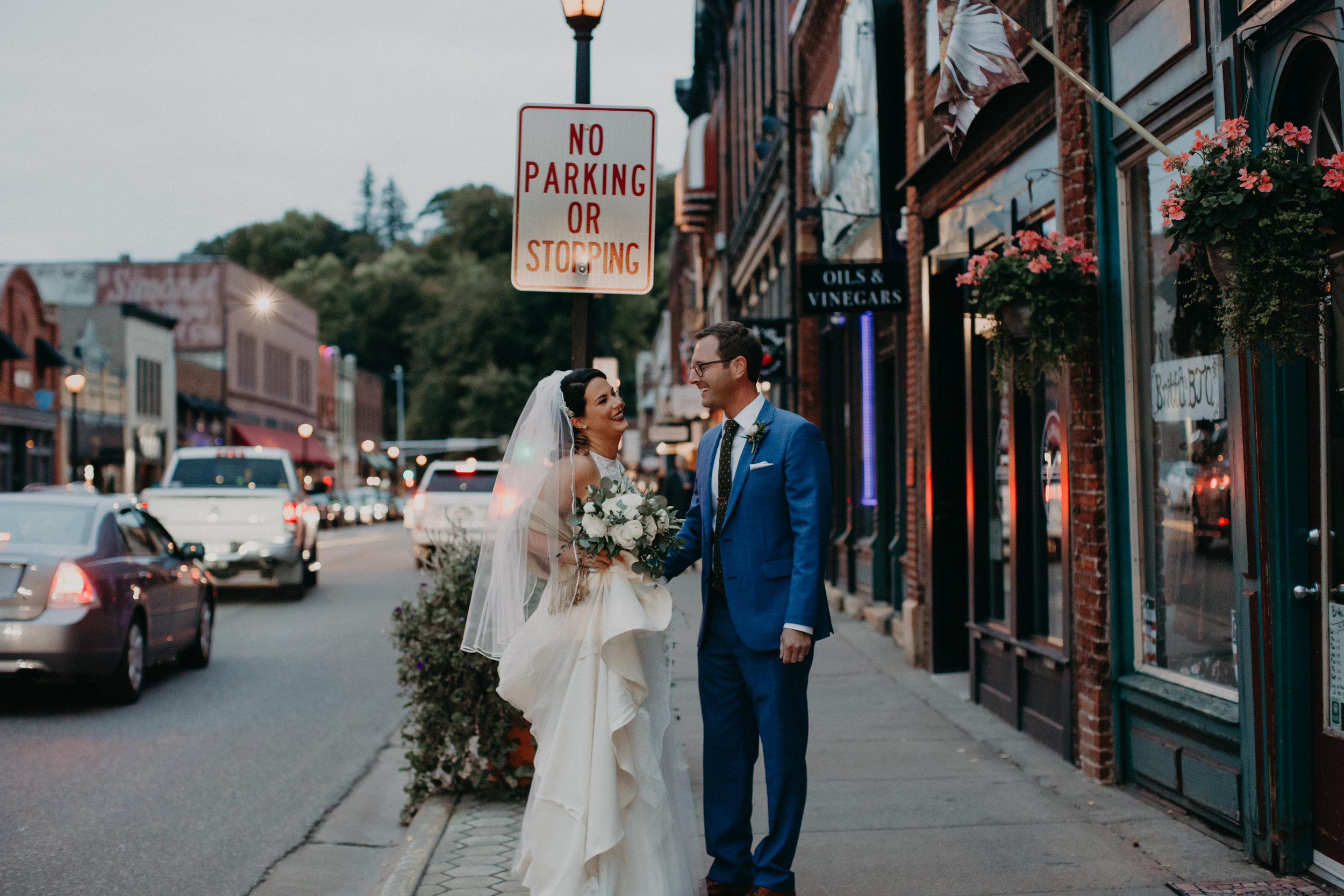 Stillwater MN wedding on the streets of downtown captured by AWP