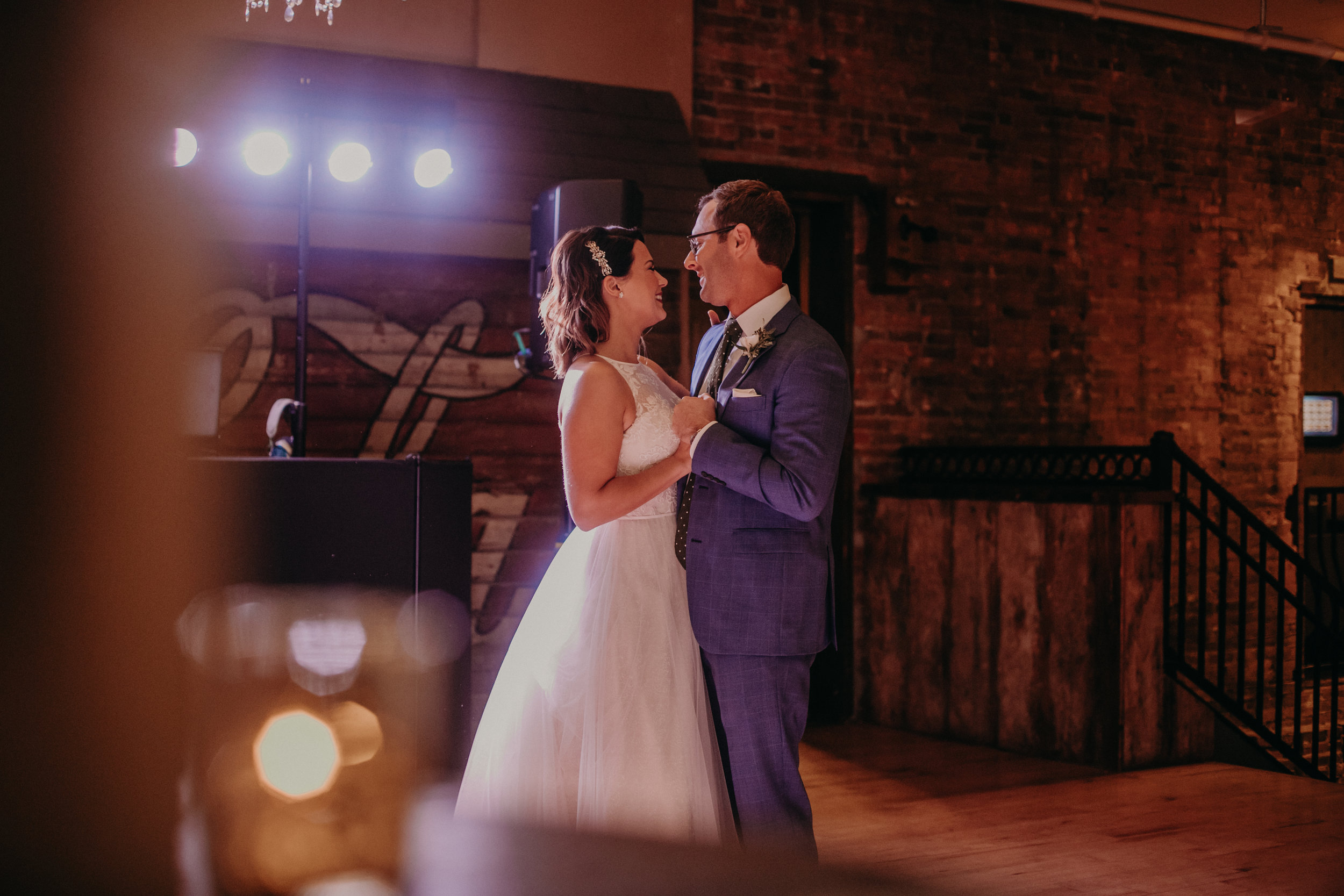 bride and groom first dance at The Loft at Stillwater MN