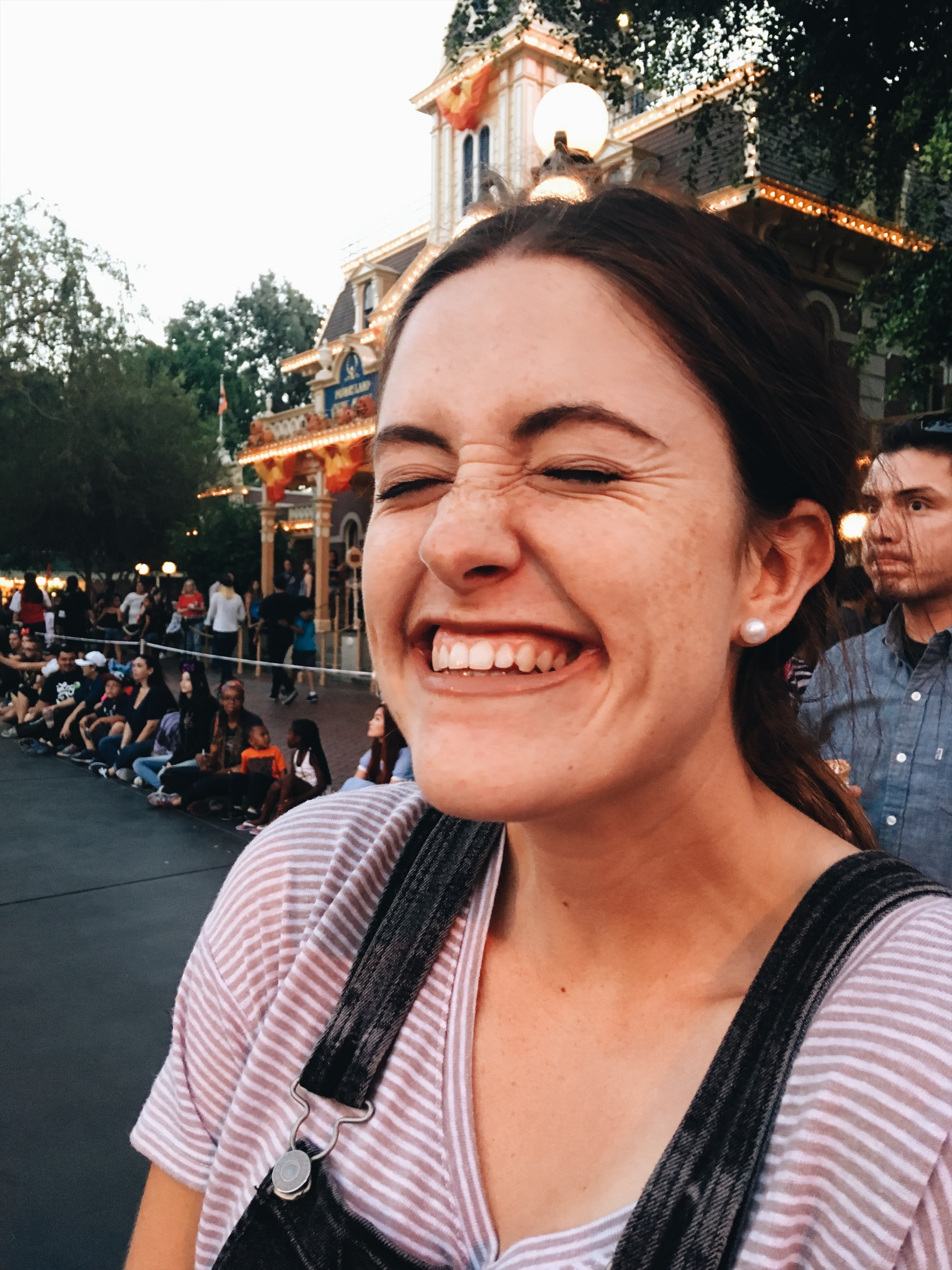 when you see the Mickey Mouse parade coming...