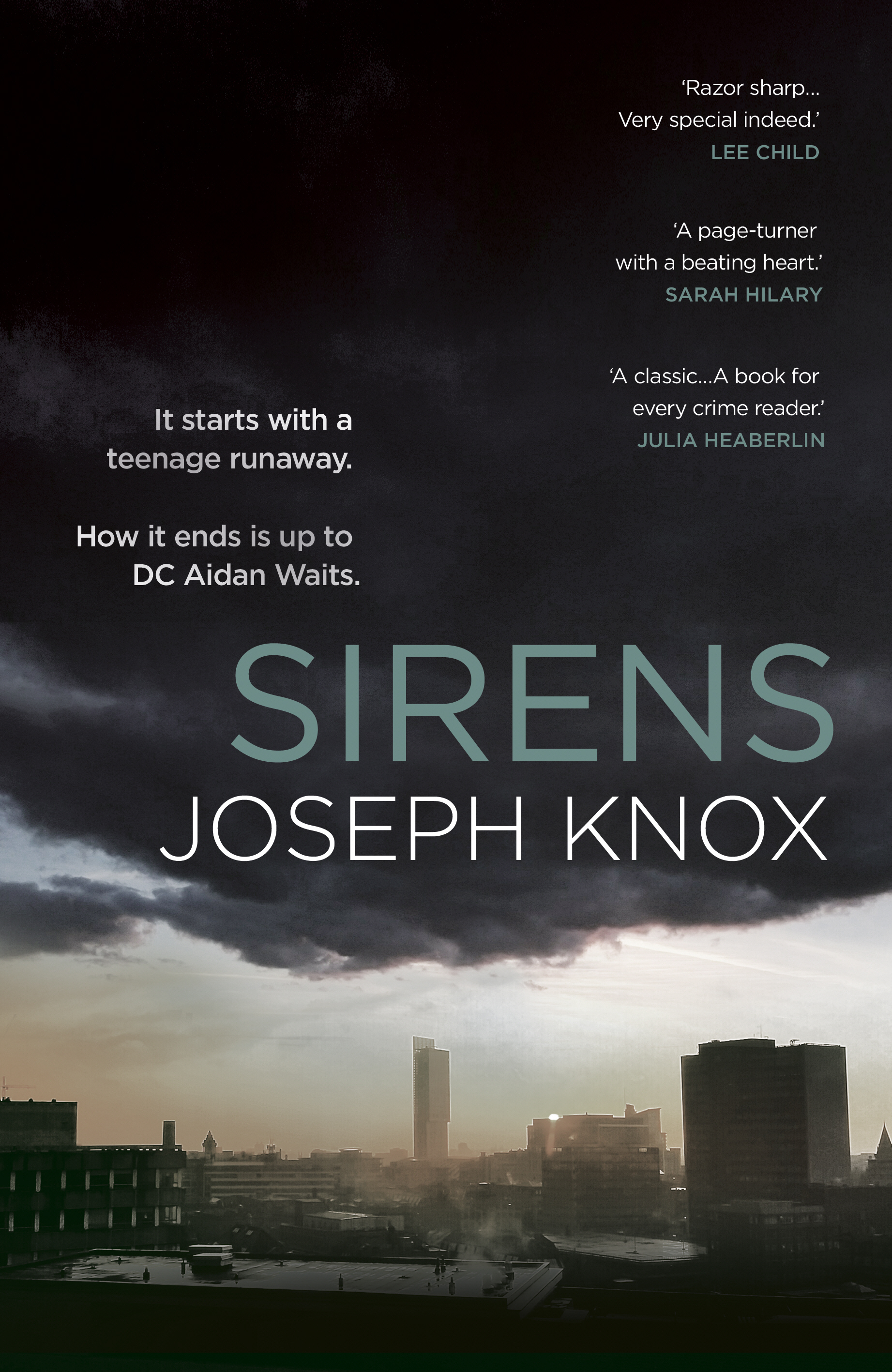 Sirens reviewed: - 'Razor-sharp urban noir – very special indeed.' (Lee Child)'Thrilling, breathless stuff.' (The Observer)'Sirens immediately feels like a classic, not a debut . . . a book for every crime fan.' (Julia Heaberlin, author of Black Eyed Susans)'Sirens is the best British crime debut of the last five years.' (Crimescene Magazine)'Sirens is a powerhouse of noir. Joseph Knox owns Manchester and paints it in all its grimy colours.' (Val McDermid)'Manchester throbs with lowlife in this startling debut . . . a page-turner with a beating heart. I loved it.' (Sarah Hilary)'Knox presents the city as pungently and uncompromisingly as Ian Rankin does Edinburgh.' (The Guardian)'A firecracker of a crime tale. His writing is taut, atmospheric and studded with eye-catching descriptions. An arresting new talent.' (Metro)
