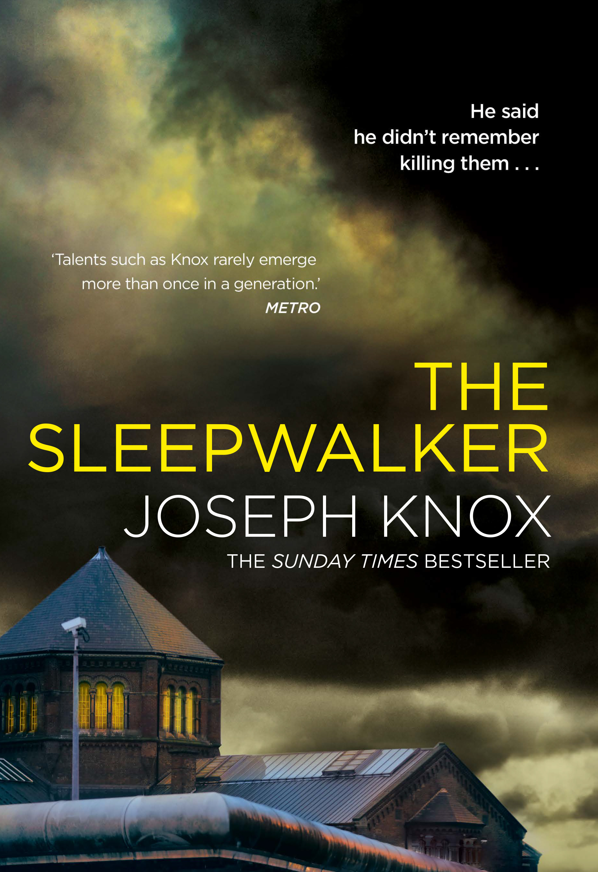 'He said he didn't remember killing them…'   As a series of rolling blackouts plunge the city into darkness, Detective Aidan Waits sits on an abandoned hospital ward, watching a mass murderer slowly die. Transferred from his usual night shift duties and onto protective custody, he has just one job…  To extract the location of Martin Wick's final victim before the notorious mass murderer passes away.  Wick has spent over a decade in prison, in near-total silence, having confessed to an unspeakable crime that shocked the nation and earned him the nickname of  The   Sleepwalker .  But when a daring premeditated attack leaves one police officer dead and another one fighting for his life, Wick's whispered last words will send Waits on a journey into the heart of darkness…  Manipulated by a reticent psychopath from his past, and under investigation from his new partner, Detective Constable Naomi Black, Waits realises too late that a remorseless contract killer is at work.  Can Aidan Waits solve his last case before fleeing justice?   Or will his name be next on the hit list?
