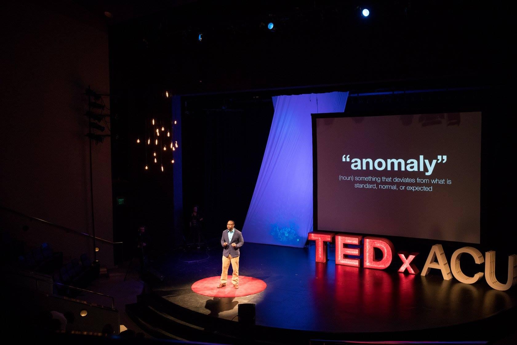 Dr. Jones presenting at TEDxACU (March 2017).