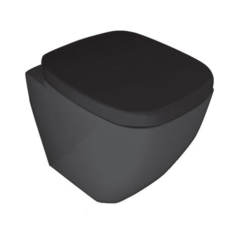 PARISI Dial Wall Faced Toilet Pan (Black)