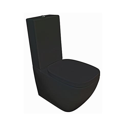 PARISI Dial Gloss Black Toilet Suite