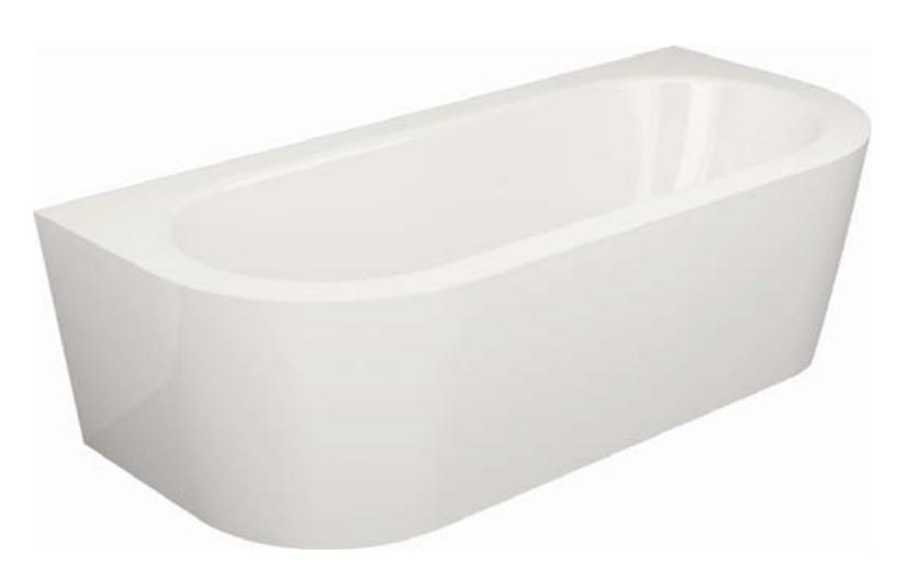 BETTE Starlet D Shaped Free-Standing Bath