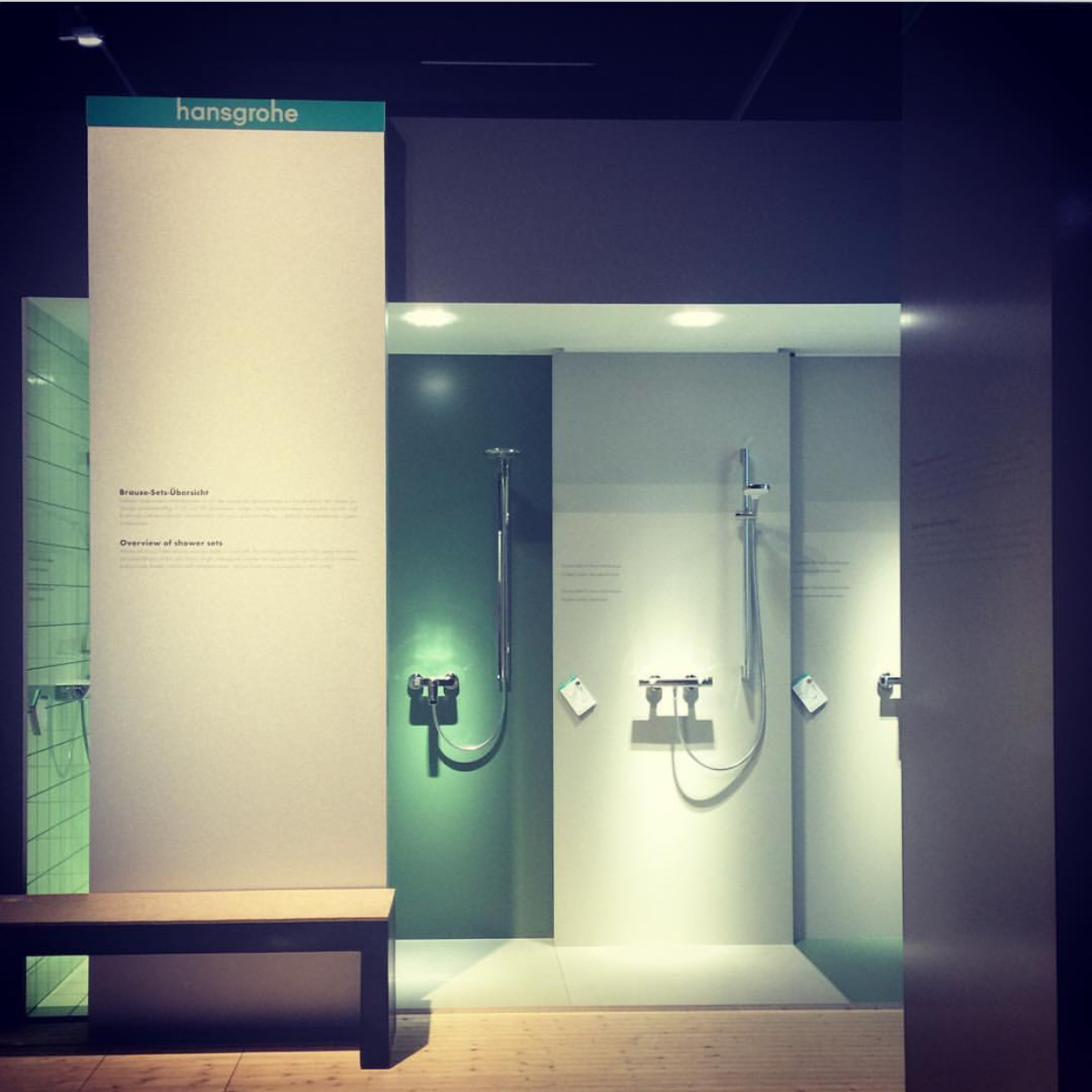 Taking a look through the beautiful exhibition room @ Hansgrohe.