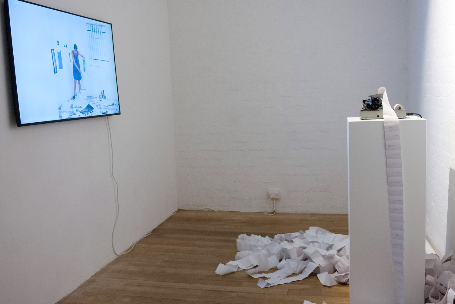Stream: a room for the conscious mind. Installation view detail. 2015