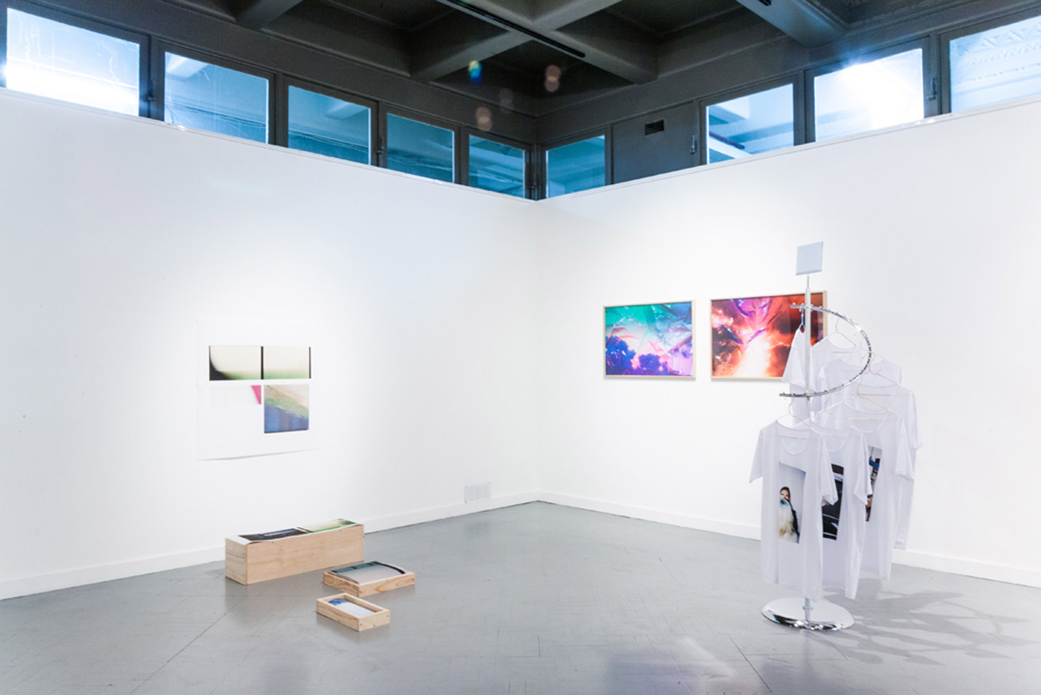 Mostly Mist. Installation view from a view from the window. Edmund Pearce Gallery. 2014