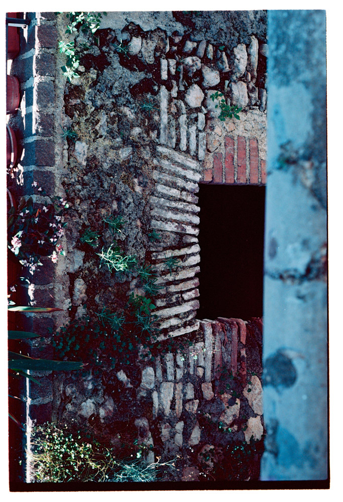 Stone Work [Brick and Stonework, possibly around an entrance to a tunnel][picture]. Archival Inkjet Print on Hahnemühle Photo Rag. 89x48cm. Edition of 5 + 2AP.