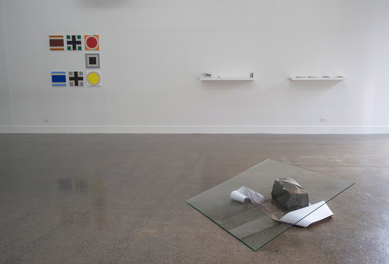 Concrete Post 2, Installation View. Project Space/Spare Room. 2015
