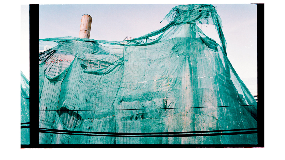 3.1 The Draperies [Blue Sheets]. 2010 [2011]. Archival Inkjet Print on Hahnemühle Photo Rag. 110 x 65cm. Edition of 5 + 2 AP.