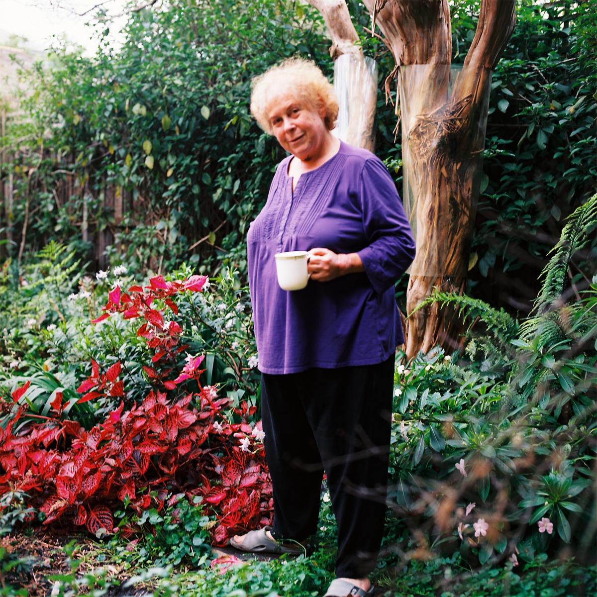 Gardener Archive. Mary in her garden in Toorak, Melbourne, Australia
