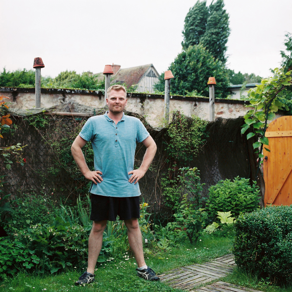 Gardener Archive. 2016. Morgan in his garden in Marnay-Sur-Seine France.