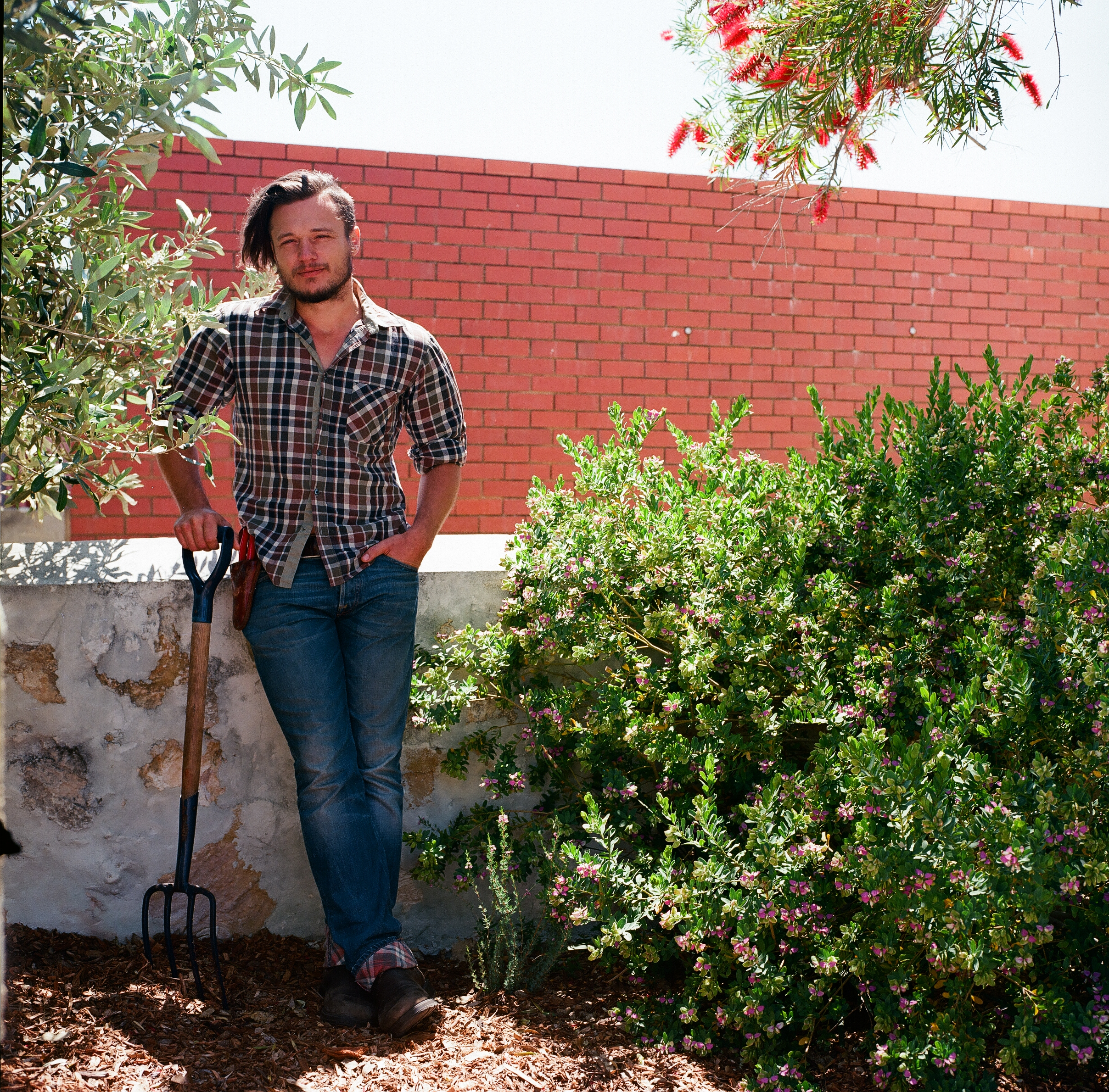 Gardener Archive. 2016. Dom in his garden in Fremantle, Perth Australia