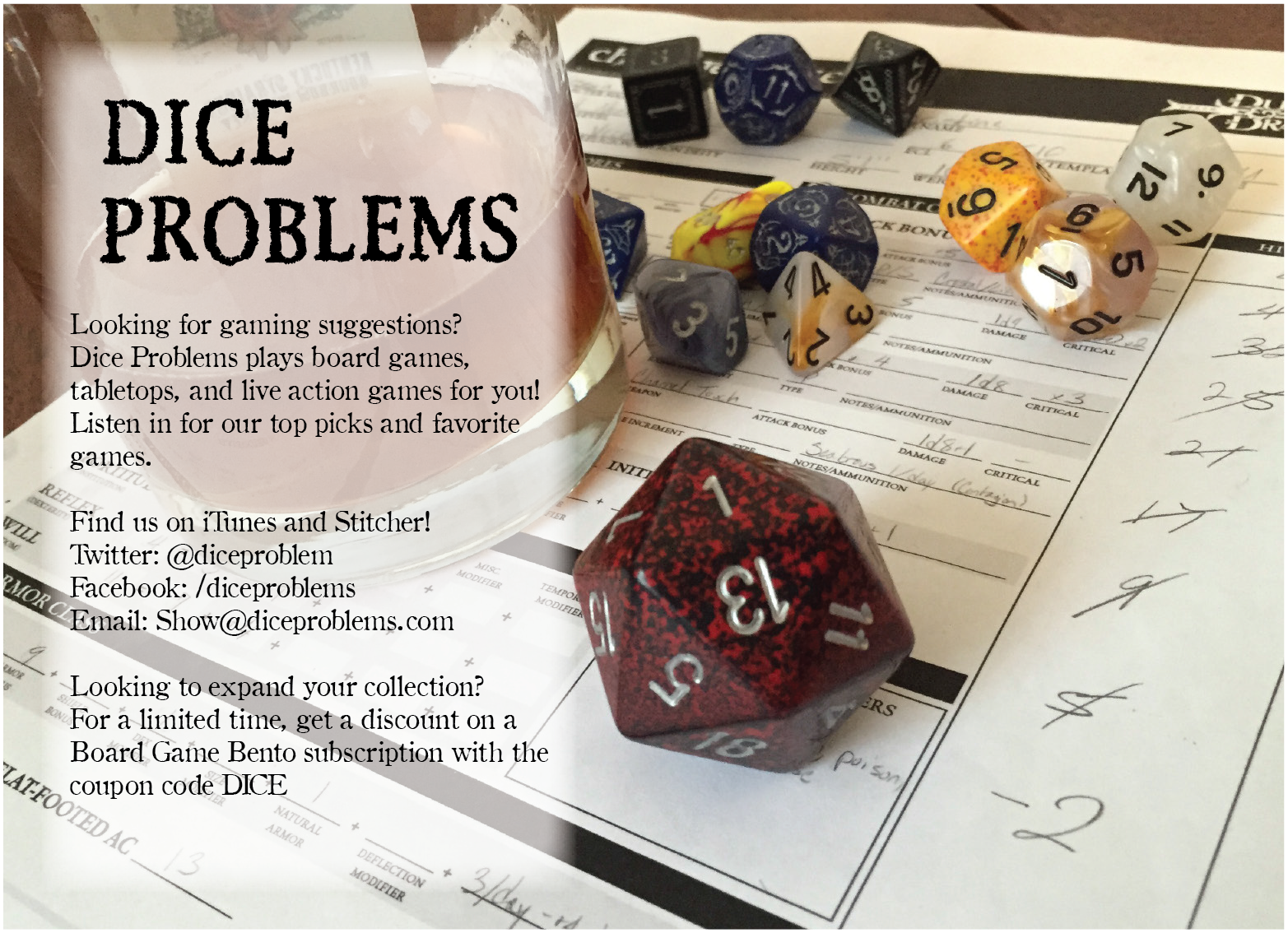 Flyer (Distributed at GenCon 2016)