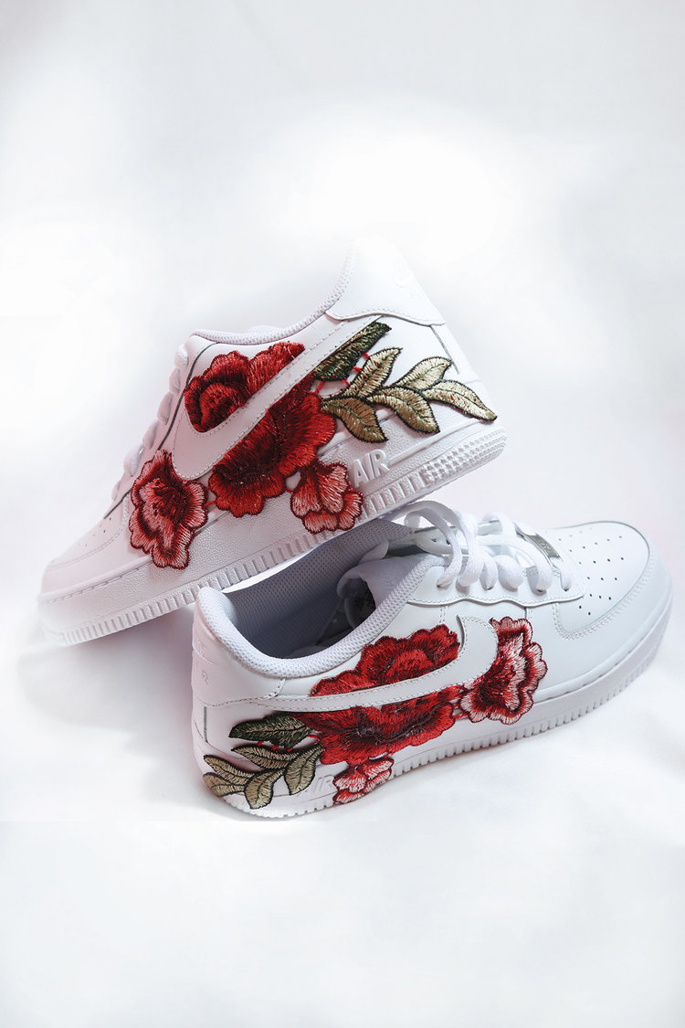 custom rose white nike air force 1 — iamkoko.la