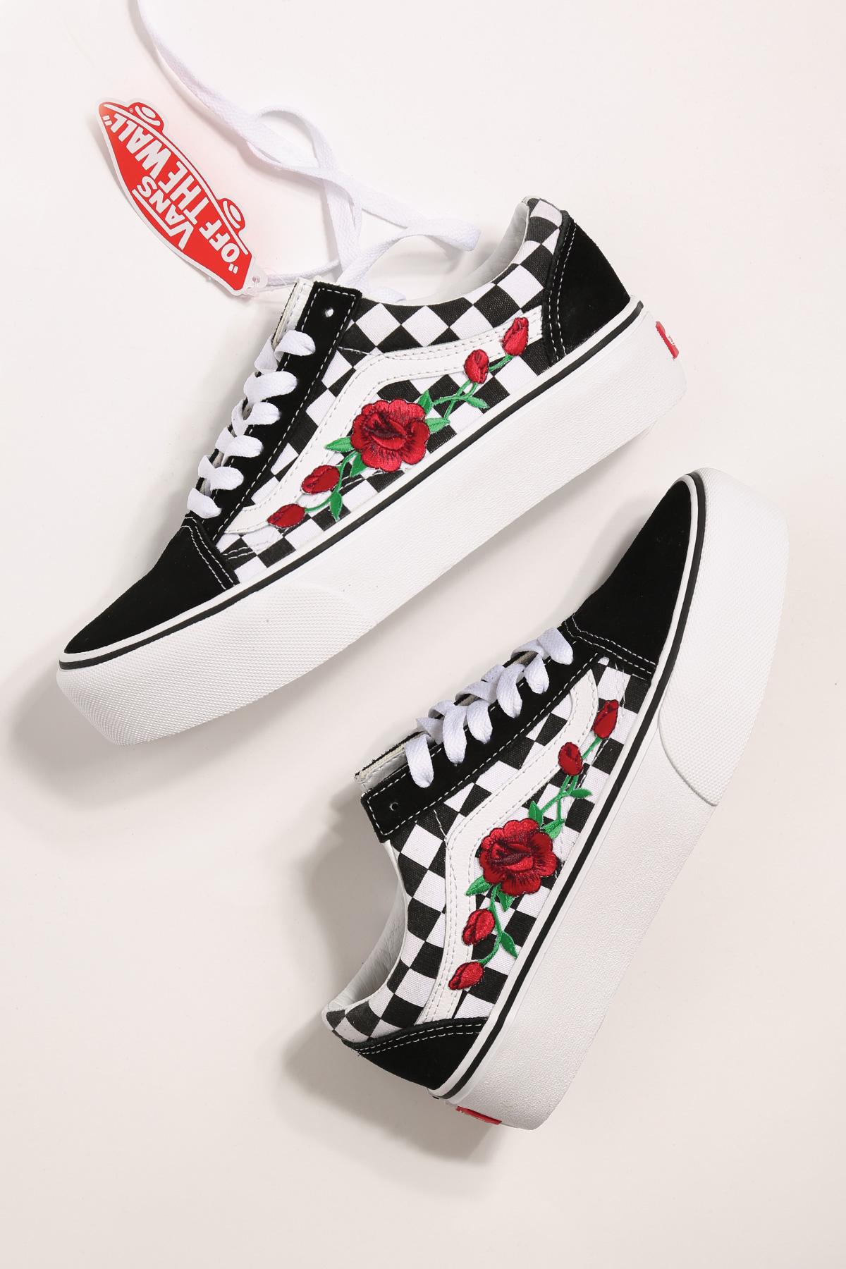 rose vans custom