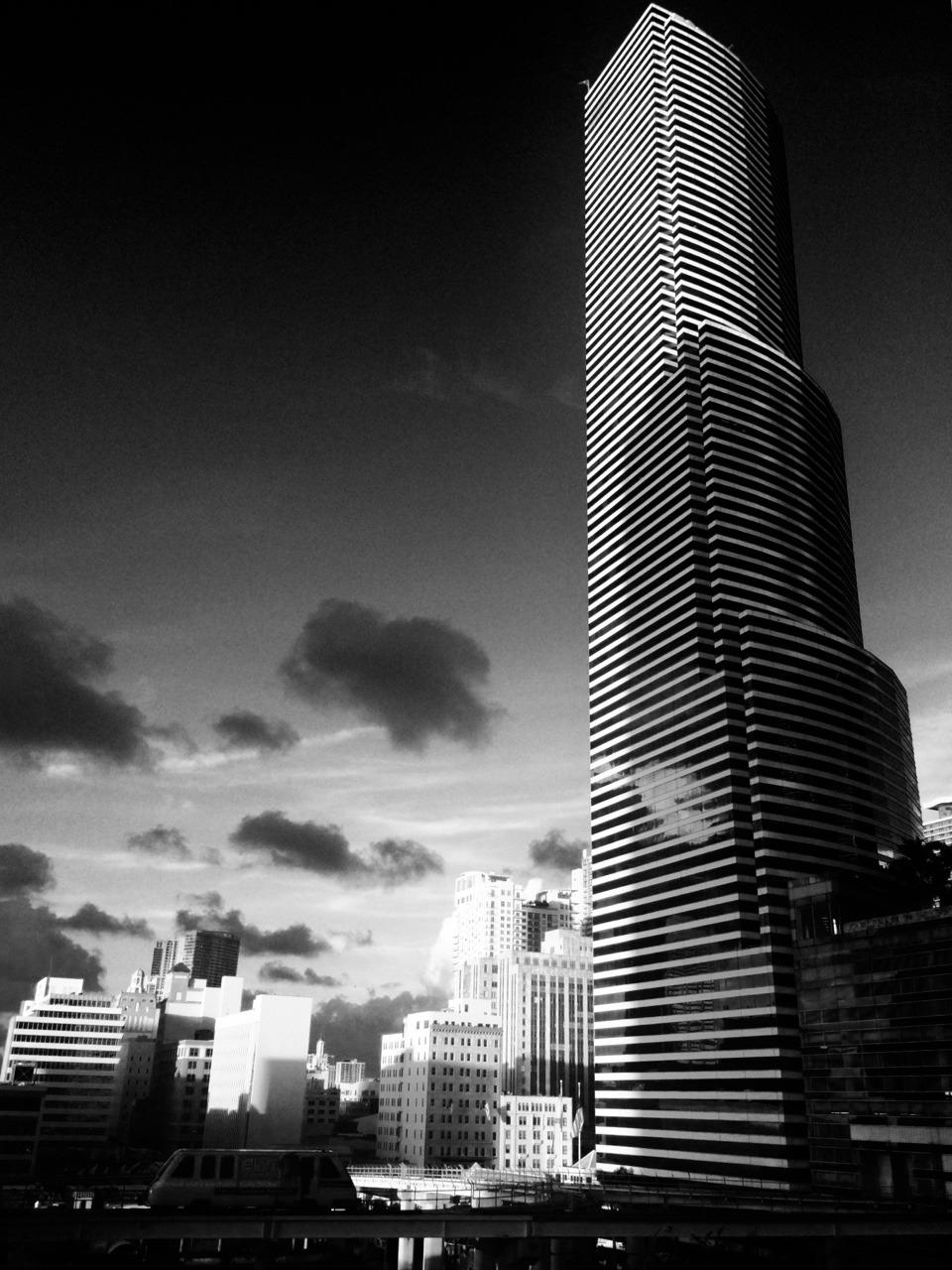 Sunset downtown Miami.