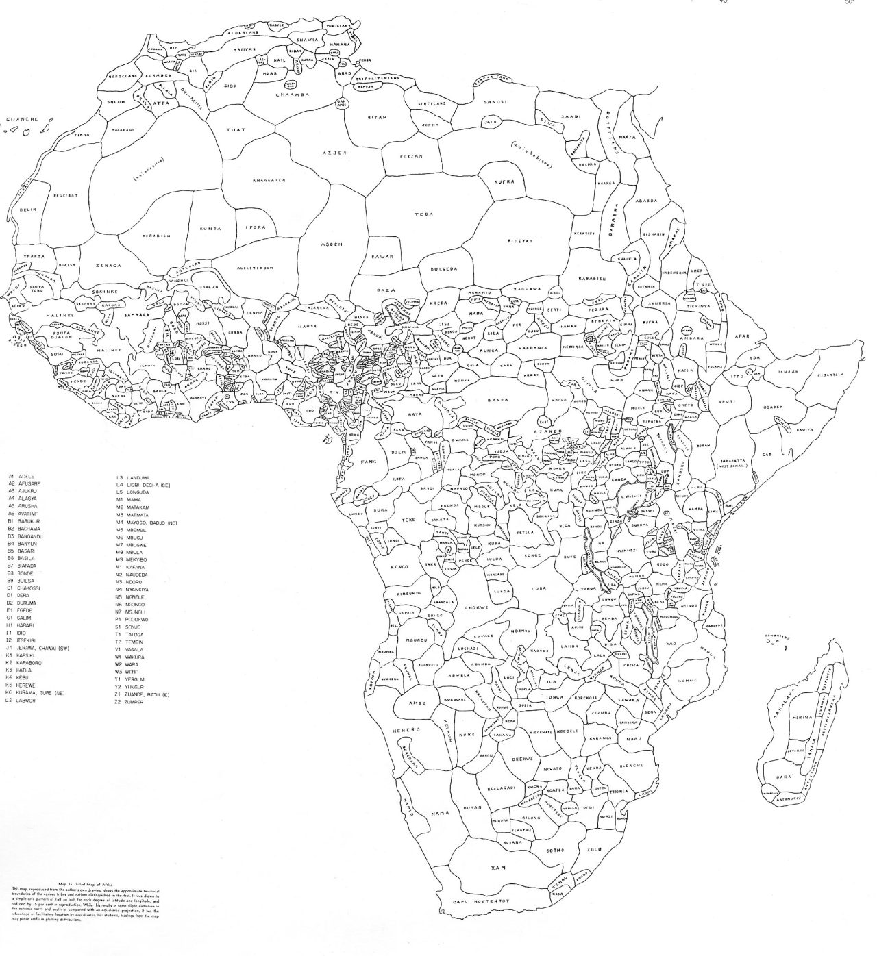 mapsontheweb :      How Africa Would Look Like if its Borders Were Defined By Ethnicity and Language. By George Peter Murdock,1959    Read More
