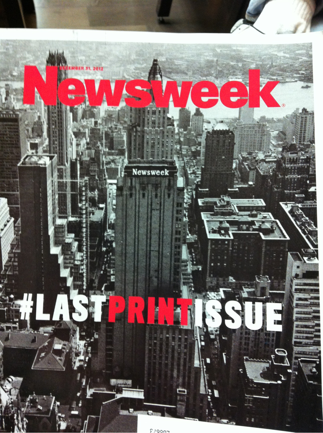 As most of you already know, on January 4th, Newsweek Magazine will cease to be printed. One more proof of how lagging behind we, Brazilians, are with ours Vejas, Istoés e Épocas.