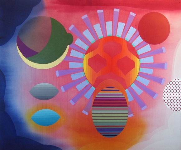 Stephen Mueller  Arden , 2010 Acrylic on canvas 48 × 58 inches Courtesy of Lennon, Weinberg, Inc., New York and Texas Gallery, Houston