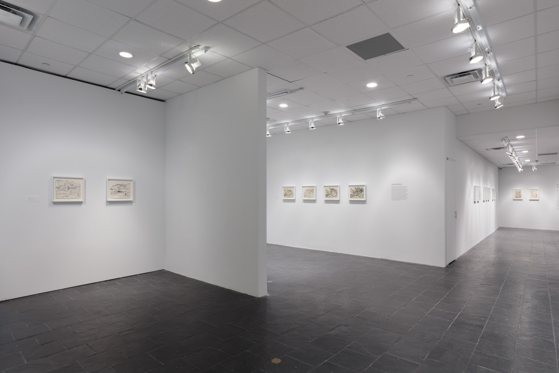Installation view:  Hans Hofmann: The California Exhibitions, 1931 , Hunter College Art Galleries, 2019. Photo by Stan Narten.