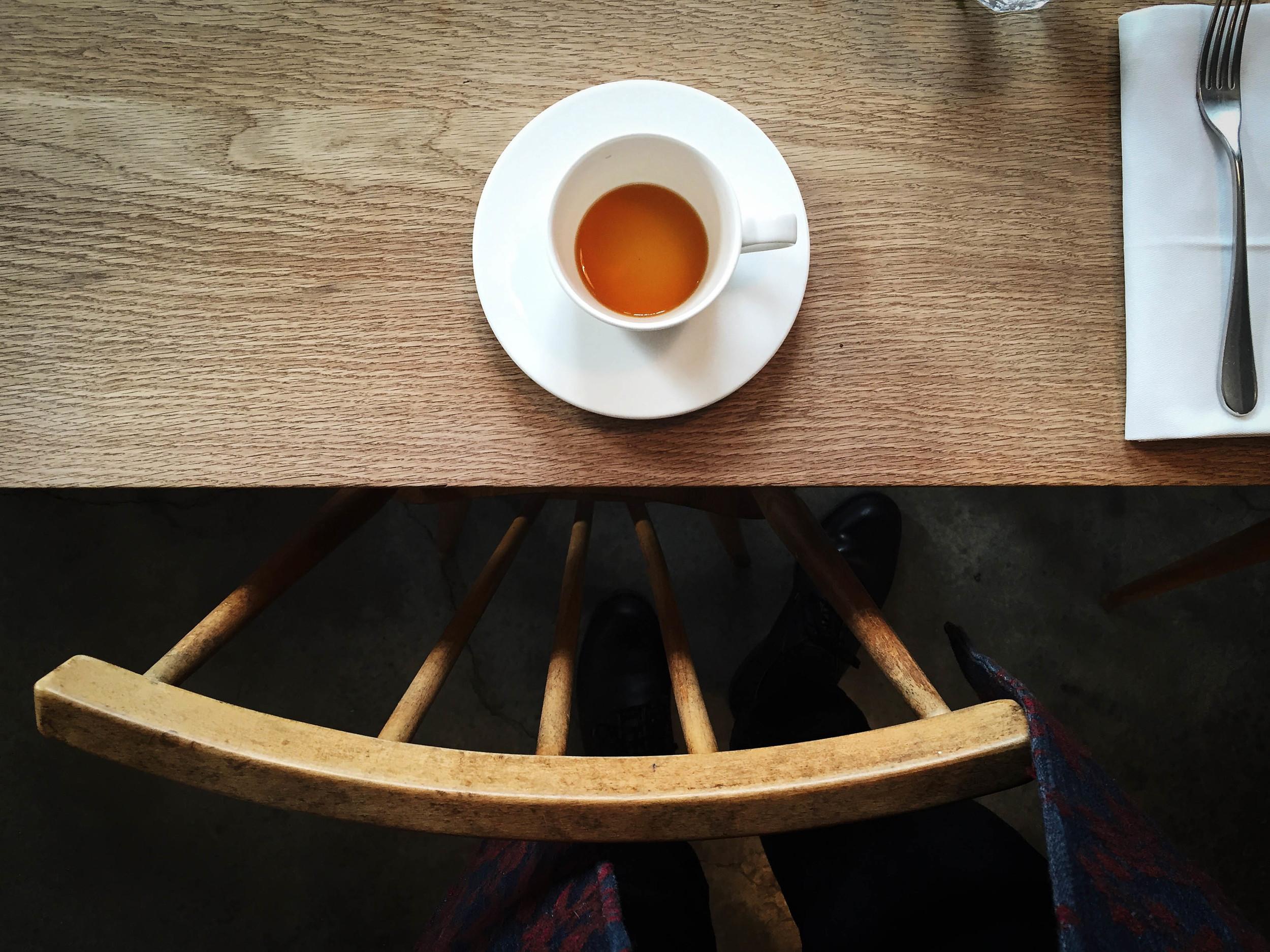 Coffee in restaurants