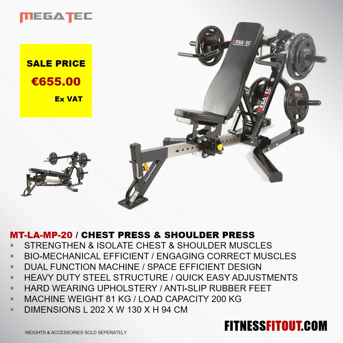MEGATEC  CHEST PRESS & SHOULDER PRESS