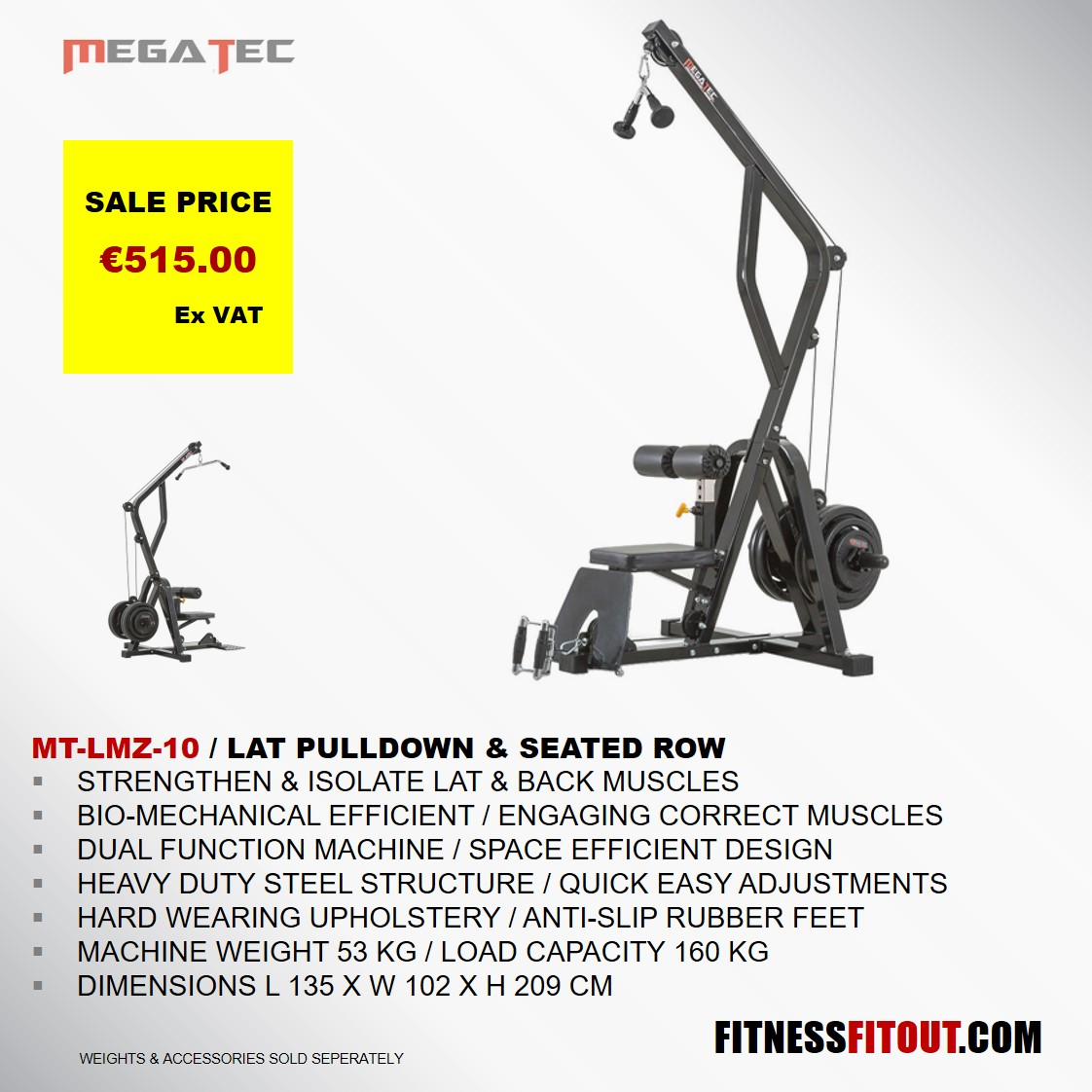 MEGATEC  LAT PULLDOWN & BACK ROW