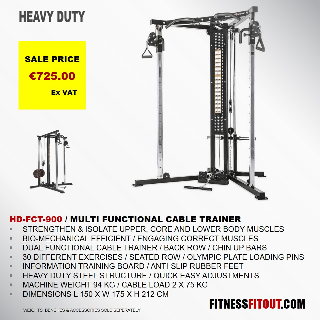 HEAVY DUTY  FUNCTIONAL CABLE TRAINER