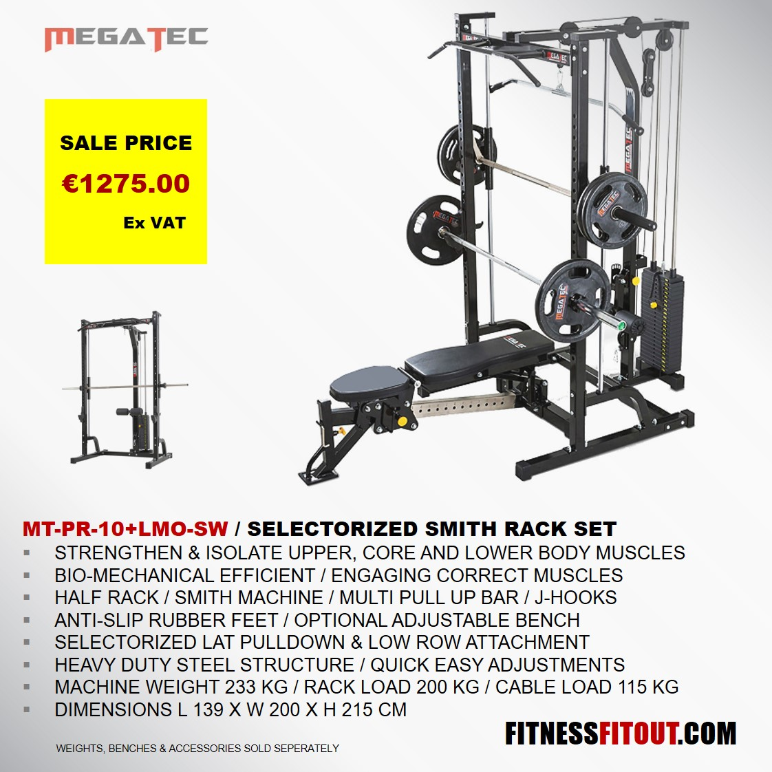 MEGATEC  SMITH RACK SET