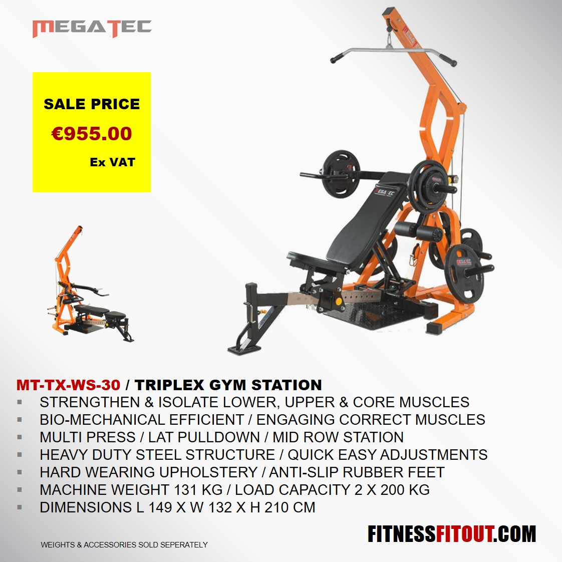 MEGATEC  TRIPLEX GYM STATION