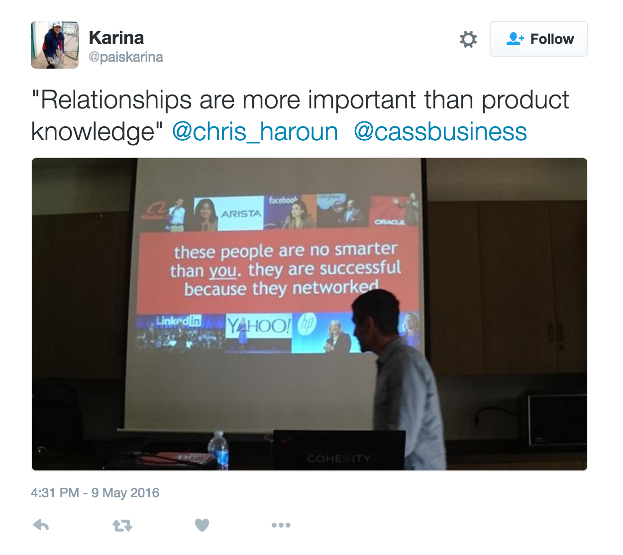 tweet of me presenting to an MBA school from Ireland.png