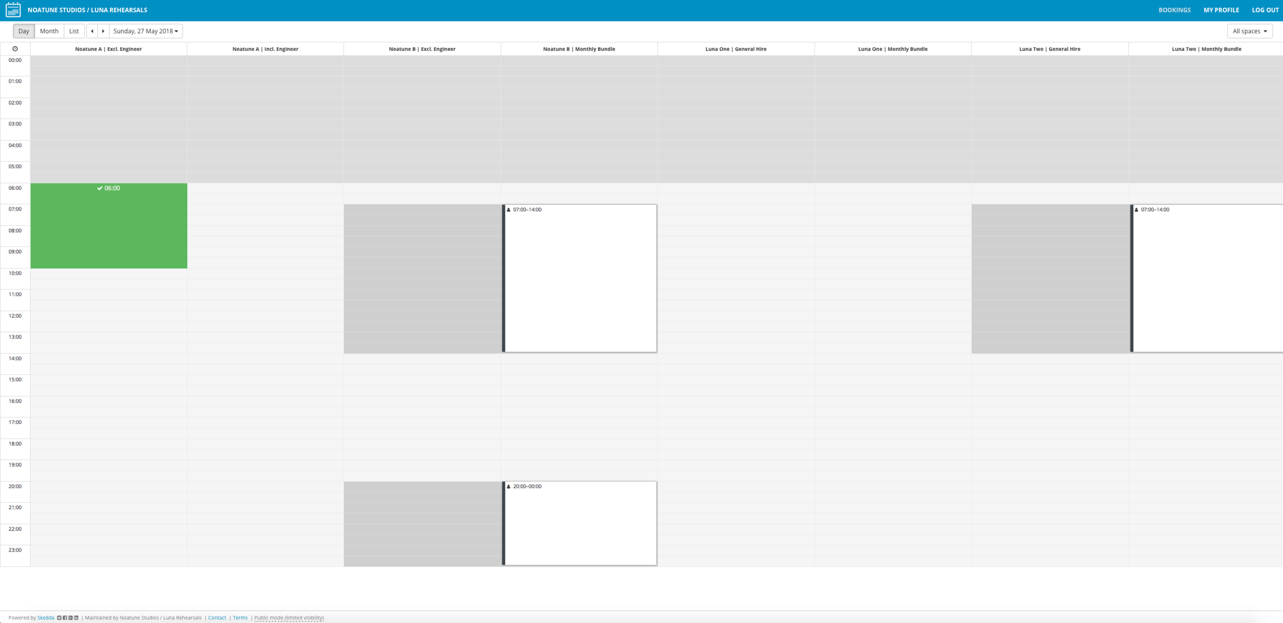 Check availability  - Find a slot that's free by hovering your mouse over your required space. Look at the Excl. Engineer Calendar or Incl. Engineer Calendar. If a slot is greyed out, then it is not available. Note: Do not use Calendars called