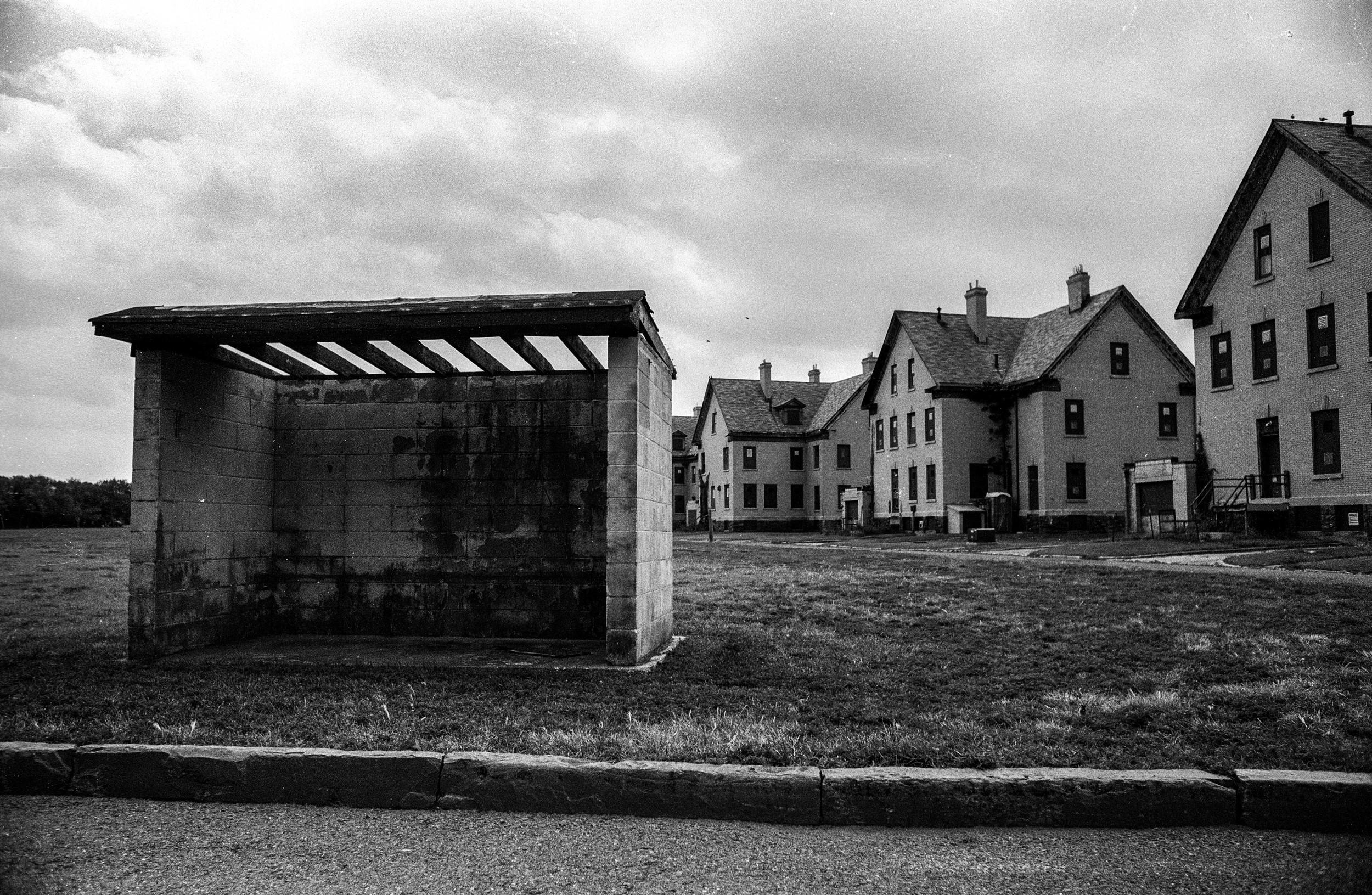 Abandoned Bus Stop, Sandy Hook - 2015