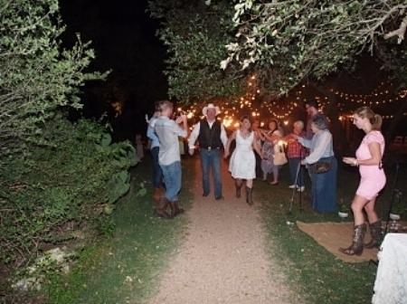 Rustic Wedding send off Keith and Sheri Wildflower Driftwood, TX