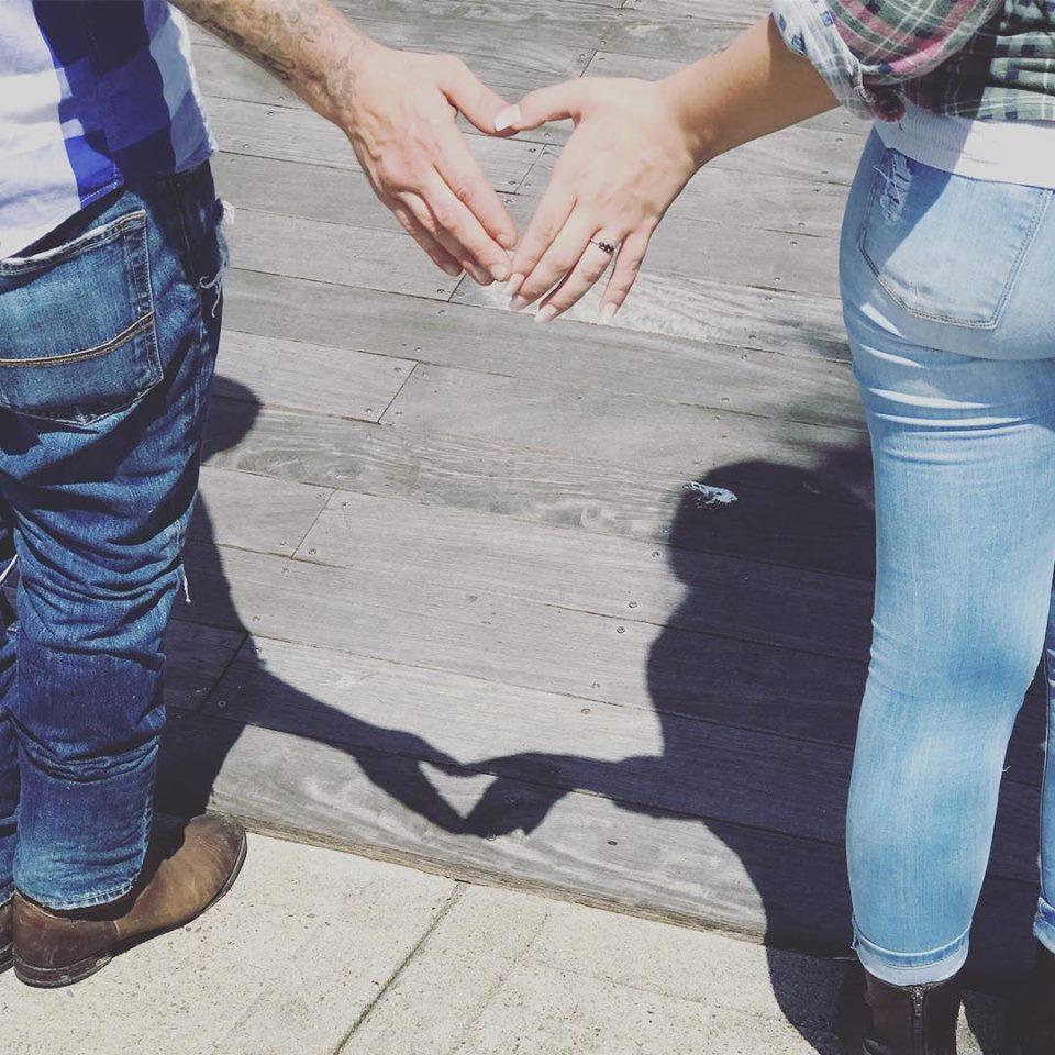 Bailey and Chris . Engagement . Evia. heart hands.jpg